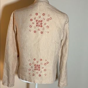 Armand Ventilo Embroidered Linen Jacket